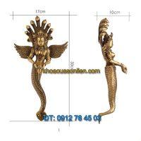 Nơi bán Tay nắm cửa đi decor hình thần rắn Naga dâng vật báu tại Hà Nội
