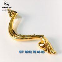 Báo giá mẫu Tay nắm cửa tủ chữ V mạ vàng WMN646.096.00GP của Giusti nhập khẩu Italy giá rẻ tại Hà Nội