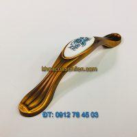Nơi bán Mẫu tay nắm cửa tủ hợp kim gắn mặt sứ tân cổ điển 1039 - 96mm đẹp giá rẻ tại Hà Nội