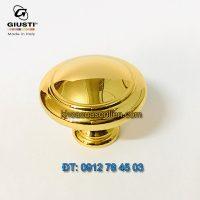 Báo giá mẫu Tay nắm cửa tủ tròn mạ vàng 24K Giusti WPO2025/30.00GP 30mm - Italy xịn nhập khẩu chính hãng giá rẻ tại Hà Nội