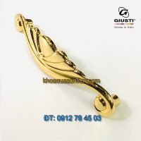 Báo giá Tay nắm tủ tân cổ điển cao cấp mạ vàng 24K Placcato Oro của hãng Giusti - Italy