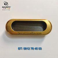 Báo giá nơi bán mẫu Tay nắm tủ âm màu đồng WMN540.075.00A8 75mm của Giusti nhập khẩu Italy giá rẻ tại Hà Nội