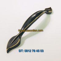 Nơi bán Tay nắm tủ bằng đồng thau sơn tĩnh điện hình lá 88120 - 128mm tại Hà Nội