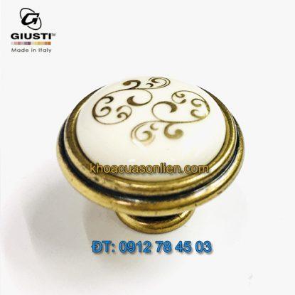 Nơi bán Tay nắm tủ tân cổ điển P88.01.P1.A8G 30mm họa tiết ánh vàng – Italy xịn tại Hà Nội