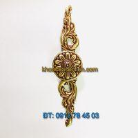 Báo giá mẫu Tay nắm tủ hình dây hoa kiểu cổ điển bằng đồng 31300 - 150mm giá rẻ tại Hà Nội