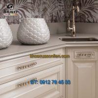 Nơi bán mẫu Tay nắm tủ dài mạ vàng 24K WMN821 96mm và 192mm của Giusti nhập khẩu Italy giá rẻ tại Hà Nội