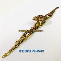 Nơi bán mẫu Tay nắm tủ hình dây hoa đồng kiểu dáng cổ điển 31300 - 260mm giá rẻ tại Hà Nội
