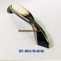 Nơi bán Tay nắm tủ hợp kim đính mặt sứ tân cổ điển cao cấp 806 - 96mm giá rẻ tại Hà Nội