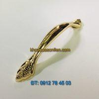 Nơi bán Tay nắm tủ tân cổ điển hợp kim mạ màu vàng 245 - 128mm giá rẻ tại Hà Nội