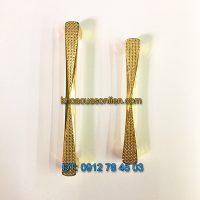 Báo giá mẫu Tay nắm tủ mạ màu vàng chất liệu hợp kim 6031 128mm và 158mm giá rẻ tại Hà Nội