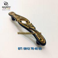 Nơi bán mẫu Tay nắm tủ màu vàng đen WMN830.096.001B 96mm Giusti nhập khẩu Italy xịn giá rẻ tại Hà Nội