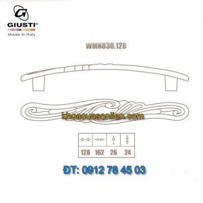 Nơi bán Mẫu Tay nắm tủ tân cổ điển đẹp WMN830.128 128mm Giusti nhập khẩu Italy chính hãng tại Hà Nội