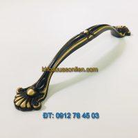 Nơi bán Tay nắm tủ tân cổ điển bằng đồng sơn tĩnh điện màu đen 6025 - 128mm tại Hà Nội