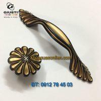 Nơi bán Tay nắm tủ tân cổ điển đẹp WMN742.128.001B 128mm của Giusti nhập khẩu chính hãng Italy tại Hà Nội