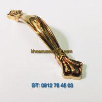 Nơi bán Tay nắm tủ tân cổ điển hợp kim mạ phủ bóng 617 - 128mm giá rẻ tại Hà Nội