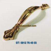 Nơi bán Tay nắm tủ tân cổ điển hợp kim mạ phủ bóng 617 - 96mm giá rẻ tại Hà Nội