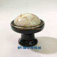 Nơi bán Núm tủ tân cổ điển đính mặt sứ vân đá 806 - 40mm giá rẻ tại Hà Nội